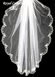 Royal Collection - Romantic beaded edge bridal veil - SALE!!