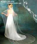 Royal Collection - Royal crystal beaded edge Cathedral bridal veil - SALE!!