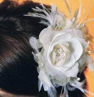 Royal Collection - Stunning couture romantic silk ivory hair flower