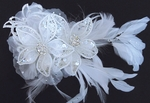 Royal Collection - Stunning Feather and Swarovski Crystal Bridal Comb - SALE