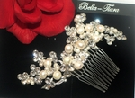 Royal Collection - STUNNING freshwater pearl swarovski crystal wedding comb - SPECIAL