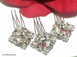 Royal Collection - STUNNING Swarovski crystal set of 3 hair pin - SPECIAL  one set left