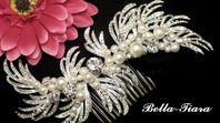 Royal Collection - Swarovski pearl bridal hair comb