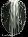 Royal Collection - Timeless Swarovski crystal edge wedding veil - SALE!!