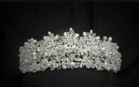 Royal Collection - Victorian Crystal and freshwater pearl wedding tiara - SALE