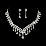 ROYAL rhinestone drop bridal necklace set - SALE!!!