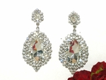 Royal Statement crystal wedding earrings - SPECIAL one left