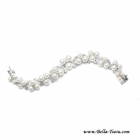 Rozita - Beautiful CZ high end pearl wedding bracelet - SALE