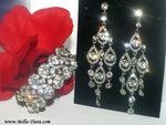 Sadira - Beautiful Swarovski crystal earring bracelet set - Special