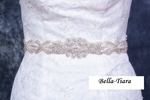 SAGLANA -  Crystal wedding bridal pearl beaded belt - SPECIAL