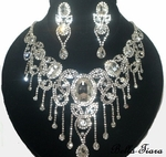 Salisha - STUNNING!! Royal crystal drop statement necklace set  - SPECIAL one left