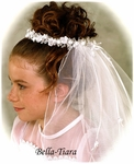 Samantha - Beautiful communion wreath headpiece - SALE