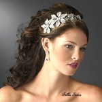 SAMUELA - Italian Collection - STUNNING Antique silver wedding headpiece - SPECIAL