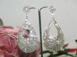 Sandra- Hollywood style stunning rhinestone drop earrings - SALE!!