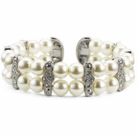 Sandy - Beautiful vintage inspired wedding ivory pearl bracelet - SALE