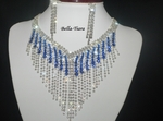 Sapphire - Dazzling rhinesone drop statement neckace - SPECIAL one left