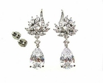 SarahAnn - NEW Beautiful Cubic Zirconia Bridal earrings - SALE