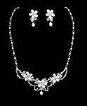 Scarlet - Beautiful Ivory Freshwater Pearl Bridal Necklace Set - SPECIAL!!