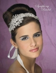 Seline - Spectacular crystal ribbon wedding headband  -- SPECIAL