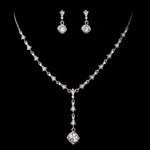 Selma - Silver or gold Vintage yet contemporary rhinestone Necklace Set