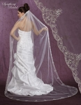 Sensational High end Swarovski crystal beaded cathedral veil - PRICED AMAZINGLY