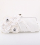 Serata - couture floral crystal satin bridal purse bag - SALE!!!