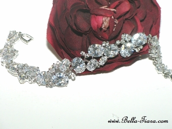 Serata - Elegant  CZ Cubic Zirconia wedding bracelet - GREAT PRICE