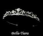 Serina - Beautiful rhinestone and pearl communion tiara - SPECIAL
