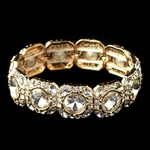 Serpa - Beautiful rhinestone gold stretch bracelet - SALE