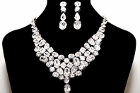 Shandra - STUNNING High end CZ statement necklace - RENTAL