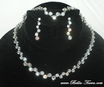 Shari - Elegant Cubic Zirconia wedding necklace set - SPECIAL!!