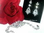 Sharisse - Stunning high end CZ earring and bracelet set - SPECIAL - SOLD