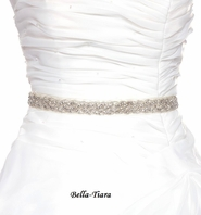 Sherri - Wedding bridal rhinestone beaded bridal all around sash belt - SPECIAL
