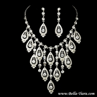 Shirley - Stunning statement Swarovski crystal necklace set - SALE