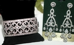 Siena - Couture Cubic Zirconia vintage wedding jewelry set - Amazingly priced!!
