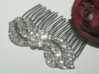 Silena - Beautiful floral rhinestone hair comb - SPECIAL