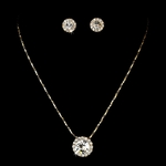Lacey - Elegant gold with clear rhinestone necklace set - QUANTITY DISCOUNT