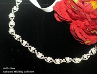 Simple classic elegance pearl wedding stretch headband - back in stock