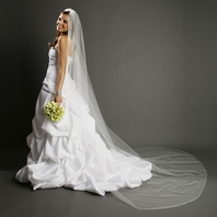 Simple elegance pencil edge cathedral veil - SALE!!