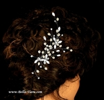 Sincere - Lovely wedding comb pearl and crystal spray -SPECIAL