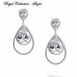 Sogni - Royal Collection - GORGEOUS CZ bridal Earrings - SALE!!
