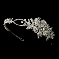 Sole - Beautiful vintage romance crystal bridal headband - SPECIAL  SALE one left in stock