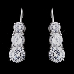 Soletta - Elegant graduated rhinestone earrings - SALE