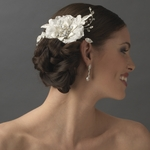 Sonia-Elegant beaded off white beaded flower - SALE!!