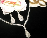 Sonya-Dazzling elegant Rhinestone Tear drop Necklace Set - SALE!!!