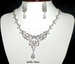 Sonya - COUTURE vintage swarovski crystal wedding necklace set - ONE LEFT special