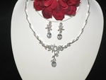 Sonya - Lovely CZ vine floral bridal necklace set - SPECIAL!!