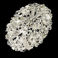 Sonya- Vintage crystal bridal hair accessory
