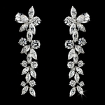 Sophisticated and Elegant. Cubic Zironia Crystal Earrings- SALE