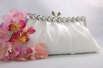 Sophisticated dazzling white or ivory bridal purse